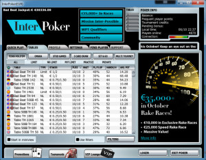 Interpoker Poker Lobby